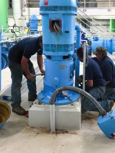 Schaefer Well Company servicing equipment